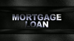 Mortgage Loan Metal Wall - HD1080 Stock Footage