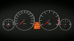Car gage panel in HD. - stock footage