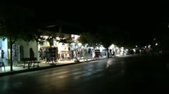 The greece streets at night Stock Footage