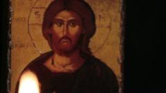 Jesus light of the world Stock Footage