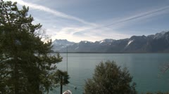 Lake Geneva Stunning View - stock footage