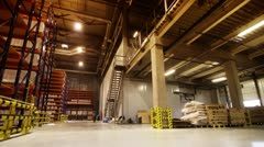 Warehouse regiments in movement - stock footage