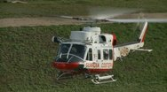 Rescue Helicopter two in Italy Stock Footage