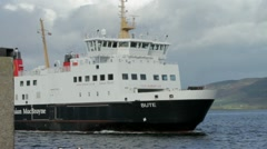Caledonian Macbrayne Isle of Bute ferry Stock Footage
