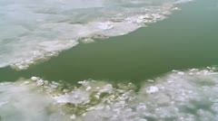 Ice on the river Stock Footage