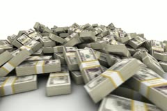 Hundred Dollar Bill Pile - stock footage