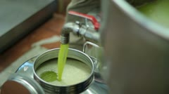 Oil mill - olive oil production Stock Footage