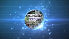 3D Rotating Video Wall Sphere Stock After Effects