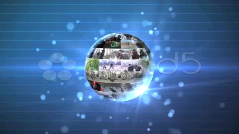After Effects Project - Pond5 3D Rotating Video Wall Sphere 8990883