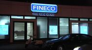 Stock Video Footage of FINECO Bank sign.