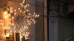 Christmas, New Year lighting. Stock Footage