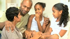 Young Ethnic Family Enjoying Time Together Stock Footage