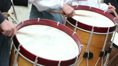 Drums Close Up Intensely Played Stock Footage