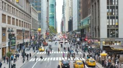 42nd Street near Grand Central Station, New York, USA, T/lapse Stock Footage