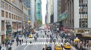 Stock Video Footage of 42nd Street near Grand Central Station, New York, USA, T/lapse