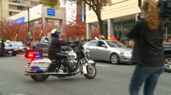 Protest, Occupy (Wall Street) Vancouver protest march and police - stock footage