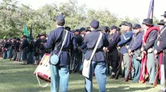 Union in Formation as Drums and Fife Go By Stock Footage