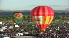 Colorful hot air balloons Stock Footage