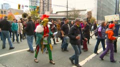 Politics and Protest, Occupy (Wall Street) Vancouver protest march Stock Footage