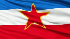 Stock Video Footage of flag of socialist federal republic of yugoslavia