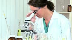 Lab Technician in White Coat - stock footage