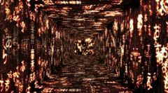 Japanese Characters Tunnel 01 Stock Footage