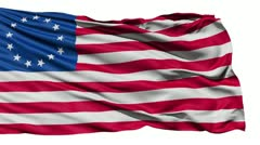 united states betsy ross flag - stock footage