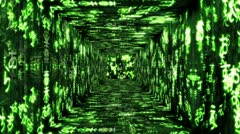 Japanese Characters Tunnel 02 Stock Footage