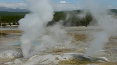 Norris Geyser Basin Steam Vents Stock Footage