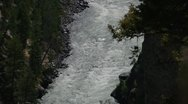 Yellowstone River Canyon Stock Footage