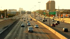 San Antonio Traffic on I-410 Wide Stock Footage