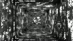 Japanese Characters Tunnel 06 Stock Footage