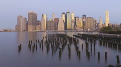 Manhattan from the Brooklyn Heights, New York, USA, T/lapse Stock Footage