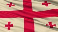 Fluttering flag of georgia Stock Footage