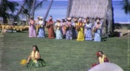 Stock Video Footage of Hawaiian Hula Dancers Circa 1965 (Vintage Film 8mm Home Movie) 1263