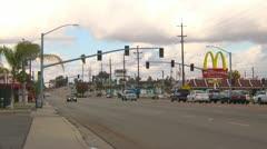 Bakersfield street scene - stock footage