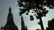 Mysterious Wat Arun-Temple Of The Dawn Stock Footage