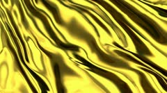 luxurious rippled gold fabric - stock footage