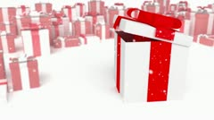 Present on a presents background Stock Footage