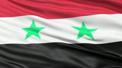 waving flag of syria - stock footage