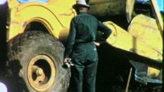 Construction Site and Heavy Equipment Circa 1959 (Vintage Film Home Movie) 1280 - stock footage