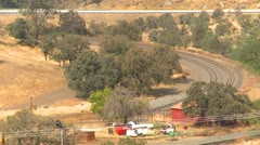 Techachapi loop and freight train, #2 Stock Footage