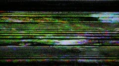 Television interference Stock Footage