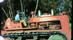 Construction Site and Heavy Equipment Circa 1959 (Vintage Film Home Movie) 1288 Stock Footage