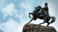 Bogdan Khmelnitsky monument in Kiev Stock Footage