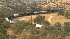 Railroad, Techachapi loop and freight train, #3 Stock Footage