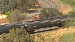 Techachapi loop and freight train, #1 - stock footage