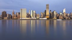 Dawn over Manhattan, New York, USA, T/lapse Stock Footage