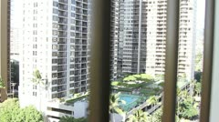 Hotel View Stock Footage