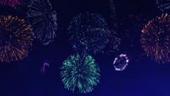 Fireworks Loop for Compositing - stock footage